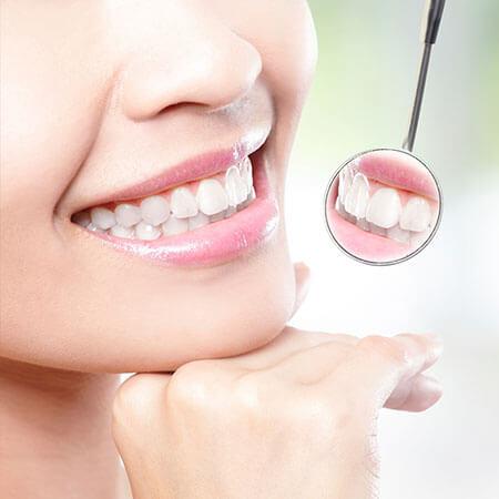 Closeup of a women smiling