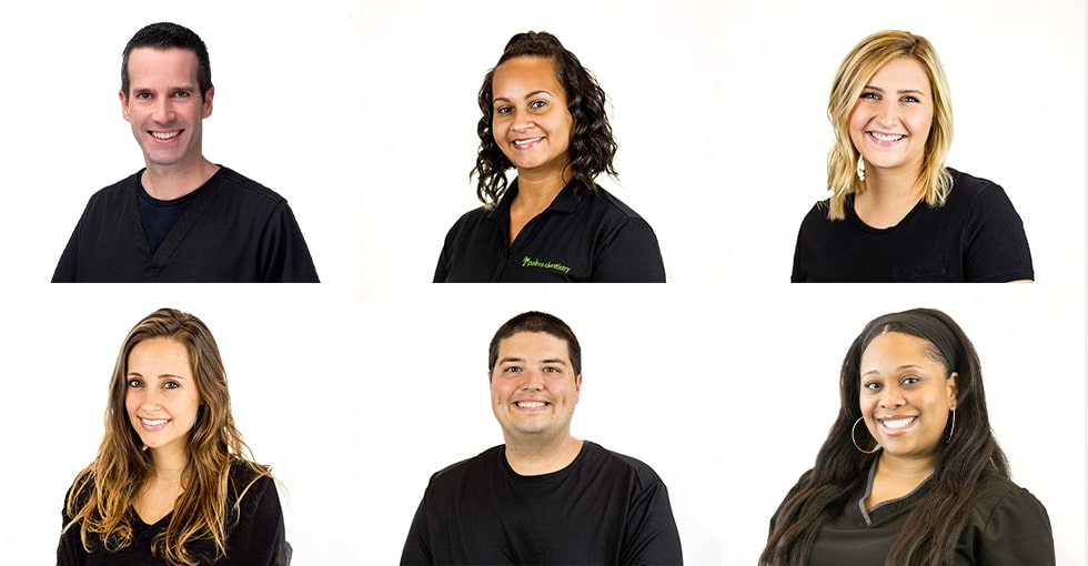 A collage of our Palms Dentistry team.